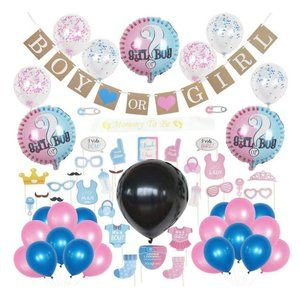 HUGE Gender reveal party supplies kit baby shower